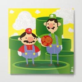 Mario e Luigi Metal Print