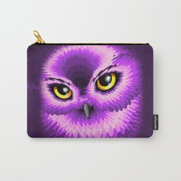 Pink Owl Eyes Carry-All Pouch
