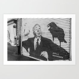 Hitchcock Hollywood Blvd Art Print