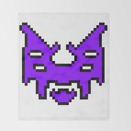 Pixel invader : Purple Throw Blanket
