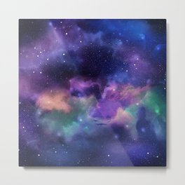 Fantasy Space Nebula Metal Print