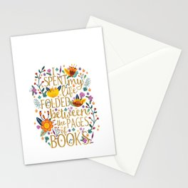 Folded Between the Pages of Books - Floral Stationery Cards