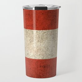 Old and Worn Distressed Vintage Flag of Austria Travel Mug