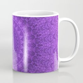 Sunflower Plum Boho Feather Pattern \\ Aesthetic Vintage Bohemian \\ Dark Violet Purple Color Scheme Coffee Mug