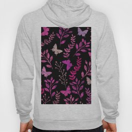 Watercolor flowers & butterflies III Hoody