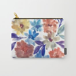 hand painted flowers_3c Carry-All Pouch