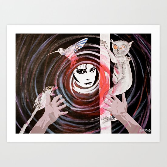 Relationship in peril Art Print