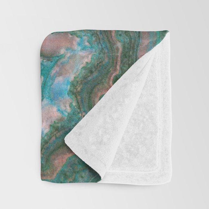 Teal & Pink marble Throw Blanket
