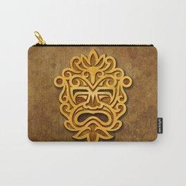 Stylish Stone Mayan Mask Carry-All Pouch