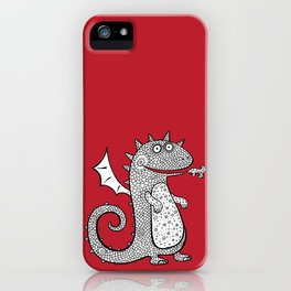 Cartoon dragon. Chinese Animal astrological signs. Hand drawn illustration. iPhone Case