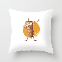 Food Puns Dabber Foodies Food Lovers Gift Shawarma Dab Throw Pillow