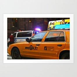 Taxi Service Art Print