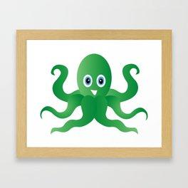 Fun green octopi Framed Art Print