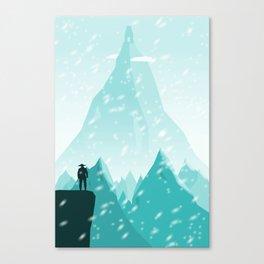 Traveller- winter Canvas Print