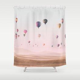 Around the World Shower Curtain