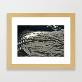 Wrinkled Mornings Framed Art Print