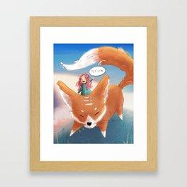 Giant Fox | #illustration #painting #digitalart Framed Art Print