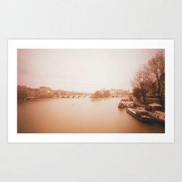 Seine Boats Art Print