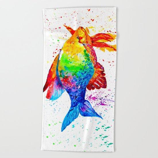 Bright fish Beach Towel