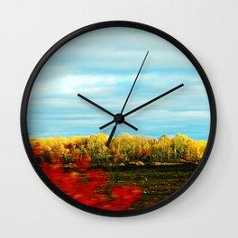 Field in Motion Wall Clock
