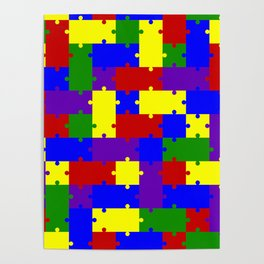 Colorful puzzle Poster