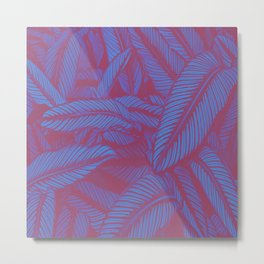 Night Tropic Jungle J Metal Print