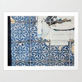 dirty azulejos Art Print
