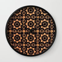 arabic Wall Clocks featuring Arabic Tiles by Barbo's Art