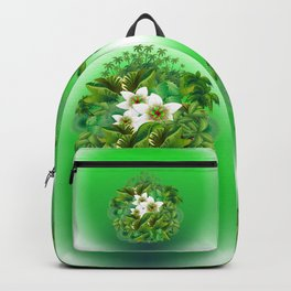 Passion Flowers on Tropical Jungle Backpack