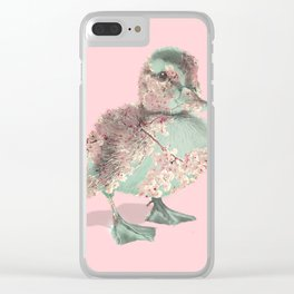 Cherry Blossom Baby Duck Clear iPhone Case