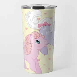 g1 my little pony babies Cotton Candy and Blossom Travel Mug