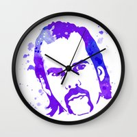nick cave Wall Clocks featuring NICK CAVE by BIG Colours