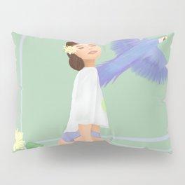 Girl with a parrot Pillow Sham
