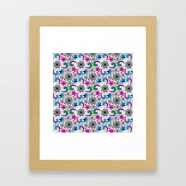 Bright and Lacy Framed Art Print