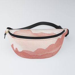 misty mountains - light red palette Fanny Pack