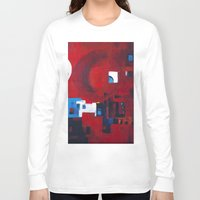 ballon Long Sleeve T-shirts featuring Red ballon by Nathalie Gribinski