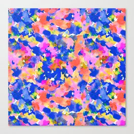Floral splash Canvas Print