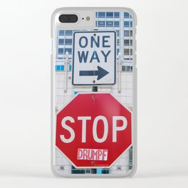 Stop #Drumpf Clear iPhone Case