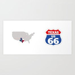 Route66 Texas Art Print