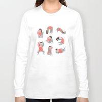 yoga Long Sleeve T-shirts featuring Yoga by Anna Katharina Jansen |Illustration