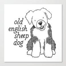Dog Breeds: Old English Sheep Dog Canvas Print