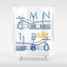 Etihad Stadium - Manchester City Shower Curtain