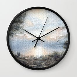 Lakeside Stroll Wall Clock