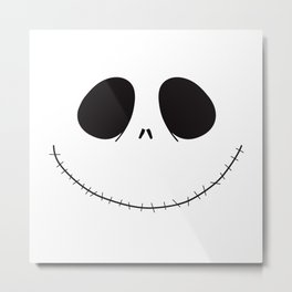 Jack Skellington Halloween Metal Print