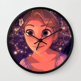 Tangled - Rapunzel and the lights Wall Clock