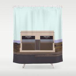 Marfa Installation: A digital illustration Shower Curtain