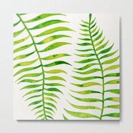 Lime Palm Leaf Metal Print