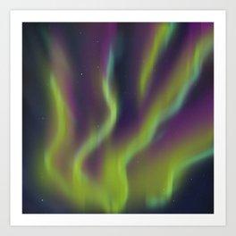 Neon Aurora Borealis Art Print