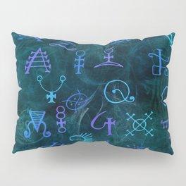 Alchemy Symbols Pattern Pillow Sham