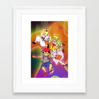 earthbound Framed Art Prints featuring Earthbound by Robin